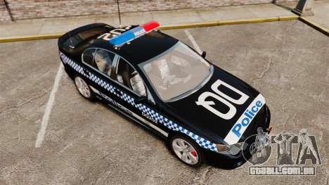 Ford BF Falcon XR6 Turbo Police [ELS] para GTA 4 vista interior