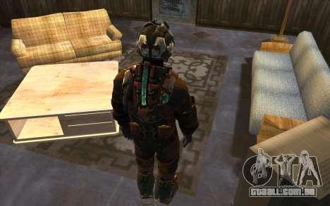 Isaac Clark in E.V.A Suit para GTA San Andreas terceira tela