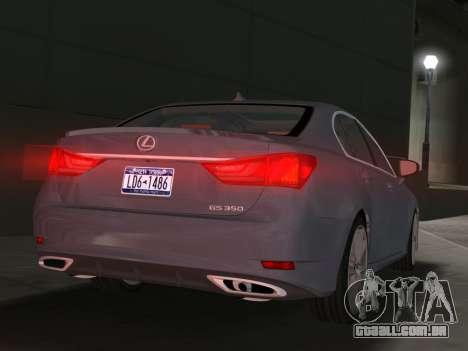 Lexus GS350 F Sport 2013 para GTA Vice City vista direita