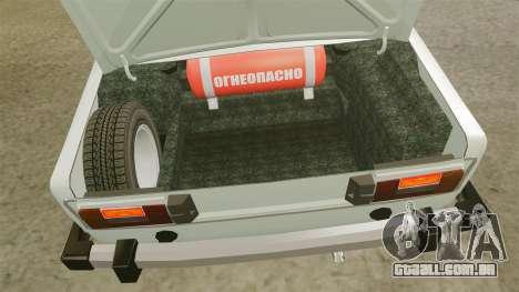 UTILIZANDO-2106 Lada para GTA 4 vista de volta