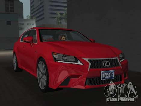 Lexus GS350 F Sport 2013 para GTA Vice City