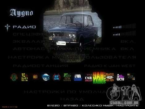 Menu Soviética carros para GTA San Andreas oitavo tela