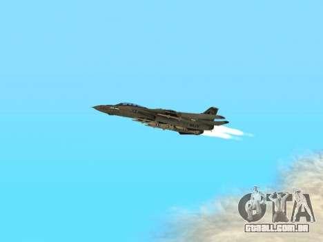 F-14 Tomcat HQ para GTA San Andreas vista interior