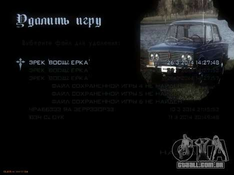 Menu Soviética carros para GTA San Andreas sexta tela
