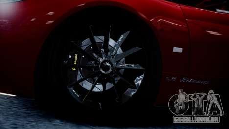 Spyker C8 Aileron Spyder v2.0 para GTA 4 vista interior