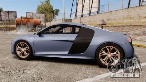 Audi R8 V10 plus Coupe 2014 [EPM] para GTA 4 esquerda vista