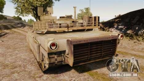 M1A2 Abrams para GTA 4 traseira esquerda vista