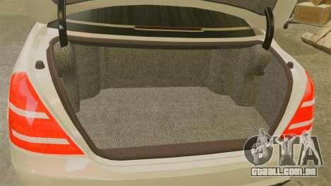 Mercedes-Benz S65 (W221) para GTA 4 vista interior