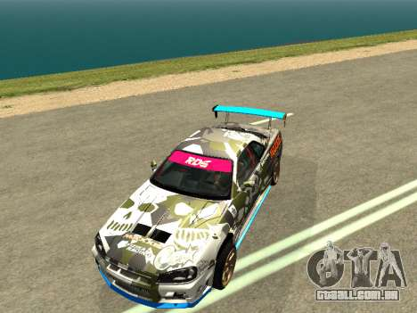 Nissan Skyline Drift para GTA San Andreas vista direita