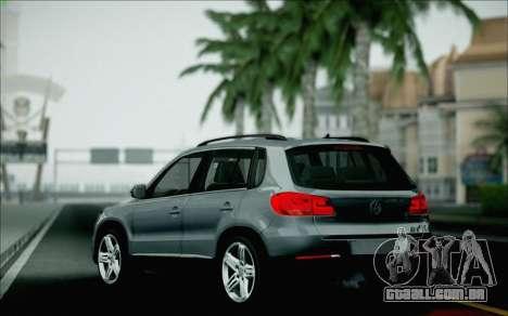 Volkswagen Tiguan 2012 para GTA San Andreas vista inferior