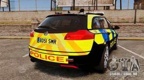 Vauxhall Insignia Sports Tourer Police [ELS] para GTA 4 traseira esquerda vista