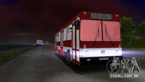 LIAZ-5256 para GTA Vice City vista traseira