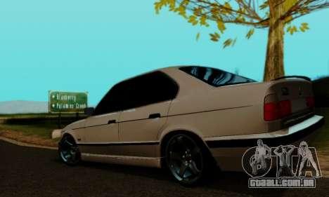 BMW 525 Re-Styling para GTA San Andreas esquerda vista