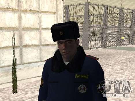 Pak policiais no inverno uniformes para GTA San Andreas terceira tela