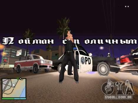 GTA 5 HUD v2 para GTA San Andreas segunda tela