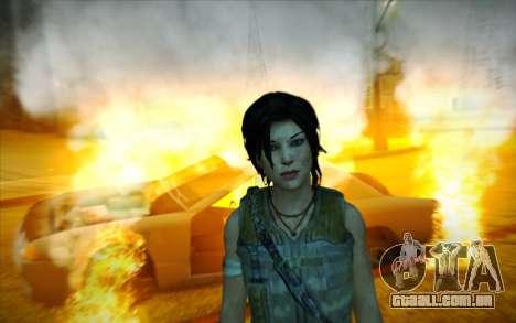 Tomb Raider Lara Croft Guerilla Outfit para GTA San Andreas por diante tela