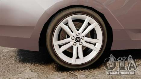 Hyundai i40 2013 Unmarked Police [ELS] para GTA 4 vista de volta