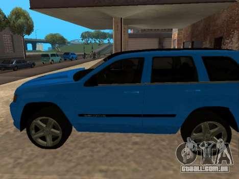 Jeep Grand Cherokee SRT8 Restyling M para GTA San Andreas esquerda vista