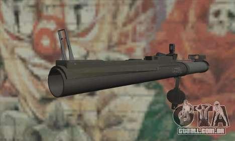 M72 LAW para GTA San Andreas segunda tela