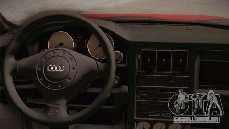 Audi 80 B4 RS2 para GTA San Andreas vista traseira