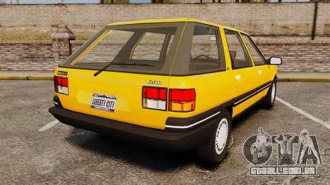 Renault 21 Nevada GTD para GTA 4 traseira esquerda vista