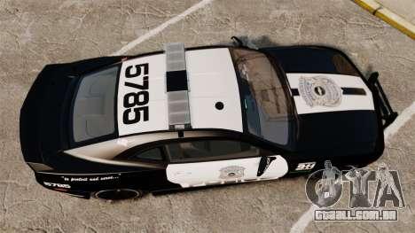 Chevrolet Camaro Police [ELS-EPM] para GTA 4 vista direita