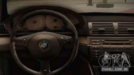 BMW M3 E46 Hellaflush para GTA San Andreas vista interior