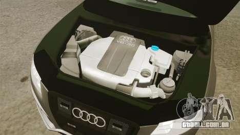 Audi S4 2013 Unmarked Police [ELS] para GTA 4 vista interior