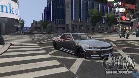 Nissan Skyline GTR-34 Nismo Z-Tune para GTA 4 vista inferior