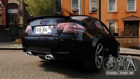 BMW M3 E92 AC Schnitzer ACS3-Sport para GTA 4 traseira esquerda vista