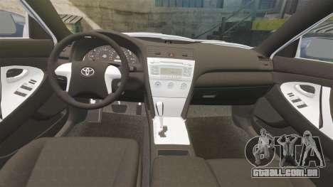 Toyota Camry para GTA 4 vista superior
