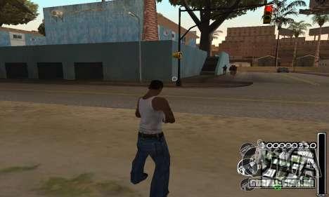 C-HuD Black White para GTA San Andreas segunda tela