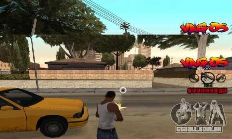 HUD Vagos para GTA San Andreas terceira tela