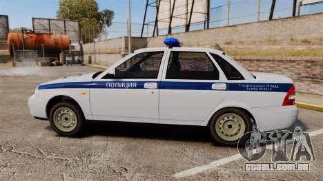 VAZ-2170 Polícia para GTA 4 esquerda vista