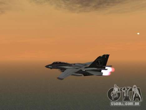 F-14 Tomcat HQ para GTA San Andreas vista traseira
