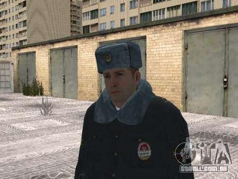 Pak policiais no inverno uniformes para GTA San Andreas quinto tela
