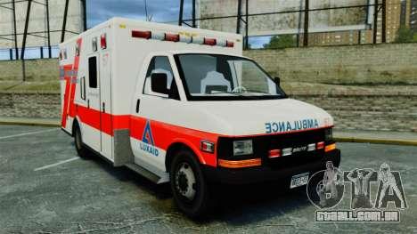 Brute Luxaid Ambulance [ELS] para GTA 4