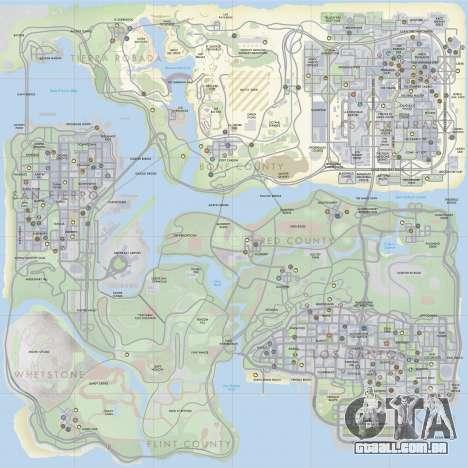 HQ Radar by Rockstar para GTA San Andreas