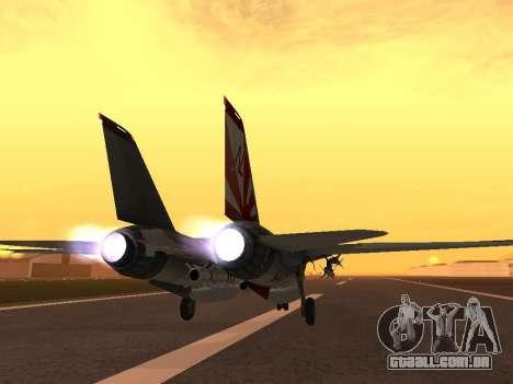 F-14 Tomcat HQ para GTA San Andreas traseira esquerda vista