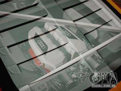 Audi R8 LMS v2.0.4 DR para GTA San Andreas vista inferior