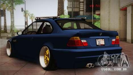 BMW M3 E46 Hellaflush para GTA San Andreas vista direita