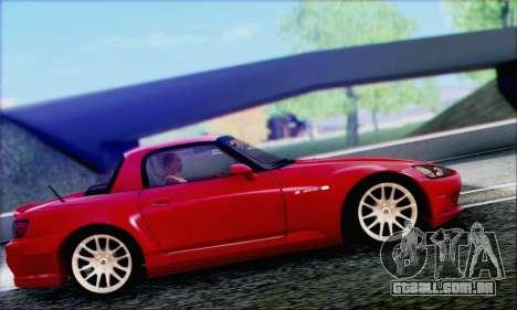 Honda S2000 Daily para GTA San Andreas vista inferior