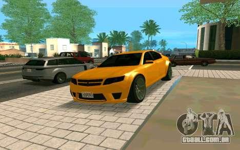 GTA V Fugitive Version 2 FIXED para GTA San Andreas vista direita