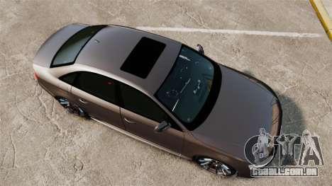 Audi S4 2013 Unmarked Police [ELS] para GTA 4 vista direita