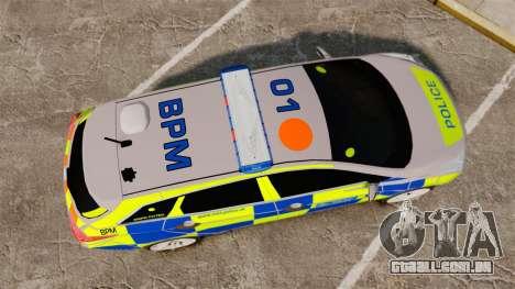 Hyundai i40 2013 Metropolitan Police [ELS] para GTA 4 vista direita