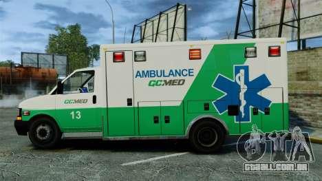 Brute GQ Med Ambulance [ELS] para GTA 4 esquerda vista