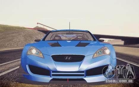 Hyundai Genesis Coupe 2010 Tuned para GTA San Andreas traseira esquerda vista