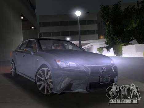 Lexus GS350 F Sport 2013 para GTA Vice City vista traseira