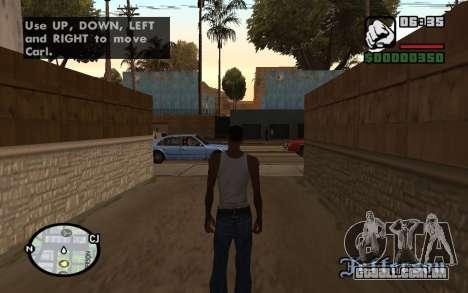 HQ Radar by Rockstar para GTA San Andreas segunda tela
