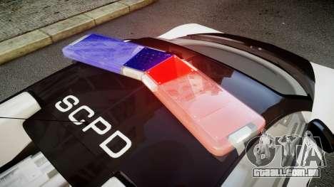 Bugatti Veyron 16.4 Police NFS Hot Pursuit para GTA 4 vista de volta
